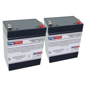 Invacare Reliant 450-1 Patient Lift 12V 2.9Ah Batteries with F1 Terminals
