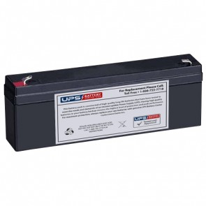 Kontron 7501 Defibrillator 12V 2.3Ah Medical Battery with F1 Terminals