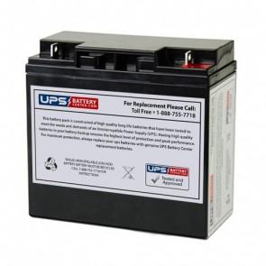 LCB ES20-12 12V 20Ah Battery with F3 - Nut & Bolt Terminals