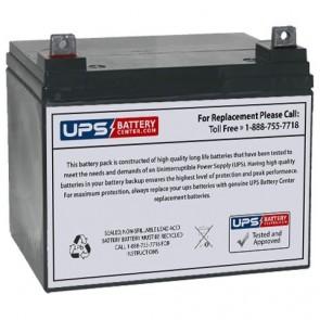 LCB 12V 35Ah GEL38-12 Battery with F7 - Nut & Bolt Terminals