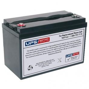 Leoch 12V 100Ah DJM12100 Battery with M8 Insert Terminals
