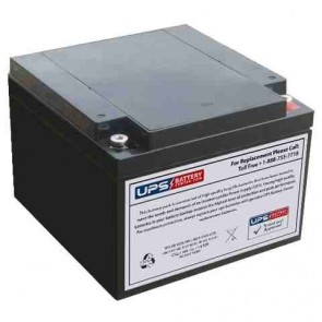 LongWay 12V 24Ah 6FM24EV Battery with M5 - Insert Terminals