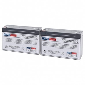 Middle Atlantic Select Series UPS 500VA UPS-S500R Compatible Replacement Battery Set