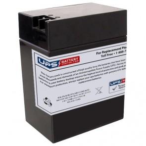 MK 6V 14Ah ES12-6 SQR Battery with +F2 -F1 Terminals