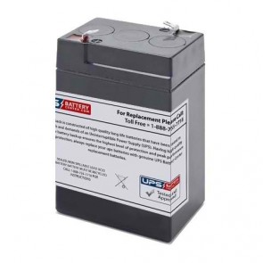 National Power 6V 5Ah GS012P3-LL Battery with F1 Terminals