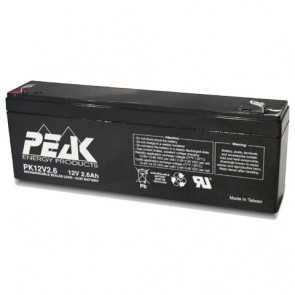PK12V2.6F1 Peak Energy 12V 2.6Ah Battery