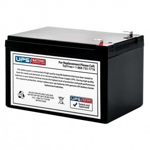 Power Mate PM6360 6V 36Ah Replacement Battery with F1 Terminal