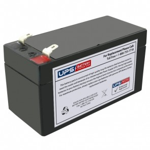 Qmed Interp 1000 EKG 12V 1.4Ah Medical Battery with F1 Terminals