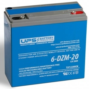 RIMA 12V 20Ah 6-DZM-20 Battery with M5 - Insert Terminals