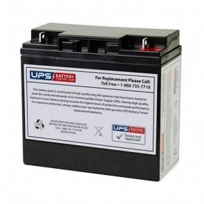 RIMA 12V 20Ah UN20-12D Battery with F3 Terminals