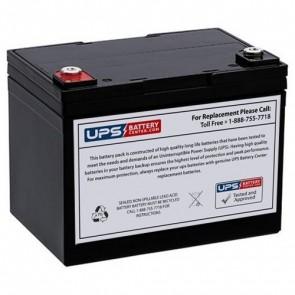 RIMA 12V 33Ah UN33-12D Battery with F9 - Insert Terminals