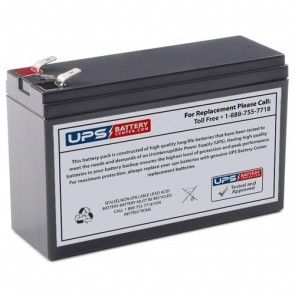 RIMA 12V 6.5Ah UNH12-26.5W Battery with +F2 / -F1 Terminals