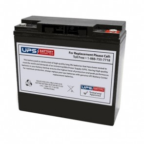 RIMA 12V 22Ah UNH12-92W Battery with M5 - Insert Terminals