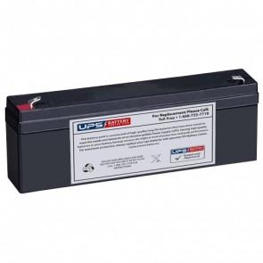 Schiller America AT2i Interpretive EKG Machine 12V 2.3Ah Medical Battery with F1 Terminals
