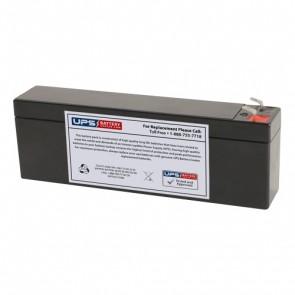 Schiller America CS-200 EKG Machine 12V 2.6Ah Medical Battery with F1 Terminals