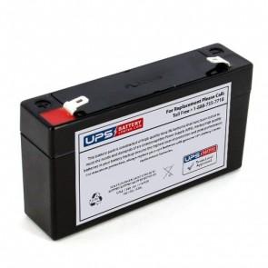Sensormedics Corp ELI-XR, ELI-100, ELI-200 6V 1.2Ah Medical Battery with F1 Terminals