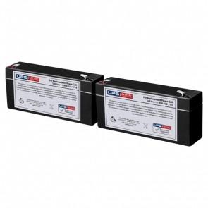 Seward Medical 9911 E.C.G. Monitor 6V 2.8Ah Medical Batteries with F1 Terminals