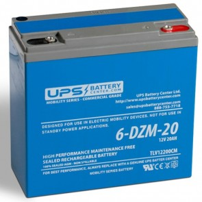 SigmasTek 12V 20Ah SP12-20-DZM Battery with Insert Terminals
