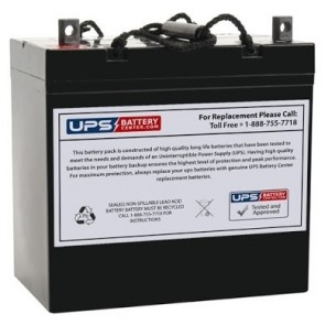 Simplex 12V 55Ah 112136 Battery with NB Terminals