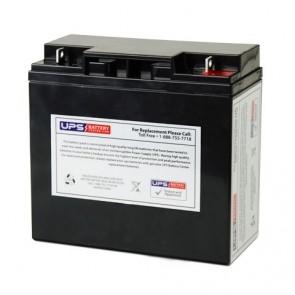 Simplex 12V 18Ah 12V18AH Battery with NB Terminals