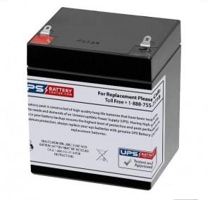 Simplex 12V 5Ah 12v5ah Battery with F1 Terminals