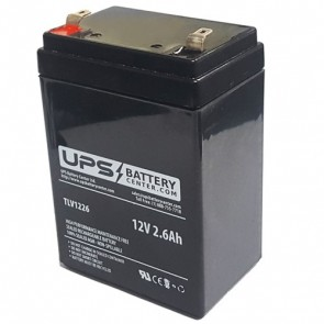 TLV1226 - 12V 2.6Ah Sealed Lead Acid Battery with F1 Terminals