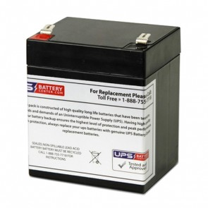 Universal 12V 5Ah BU1248W Battery with F2 Terminals