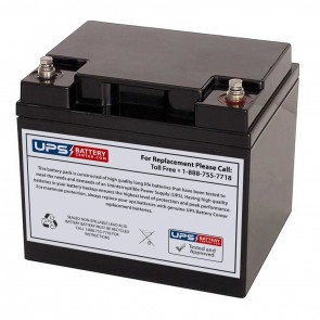 VCELL 12VCL40 M6 Insert Terminals 12V 40Ah Battery