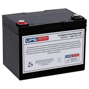 Vision 12V 35Ah 6FM33-X Battery with F9 - Insert Terminals