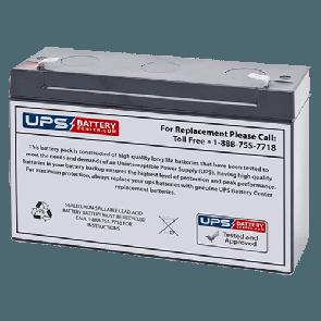Yuasa 6V 12Ah NP12-6 Battery with F1 Terminals