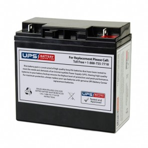 Yuasa 12V 18Ah NP18-12BFR Battery with F3 - Nut & Bolt Terminals