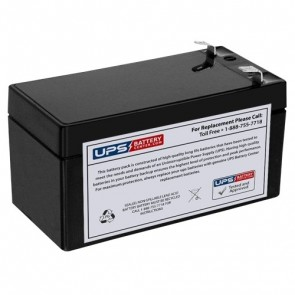Zeus 12V 1.3Ah PC1.3-12 Battery with F1 Terminals