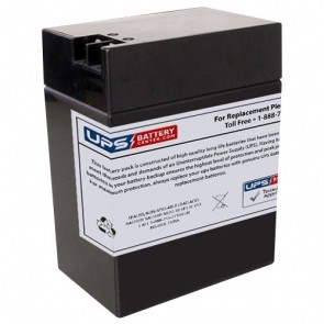 Zeus 6V 12Ah PC12-6TFP Battery with +F2 / - F1 Terminals