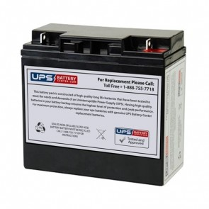 Zeus 12V 18Ah PC18-12NB BLK Battery with F3 Terminals