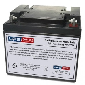Zeus 12V 40Ah PC40-12NB Battery with NB Terminals