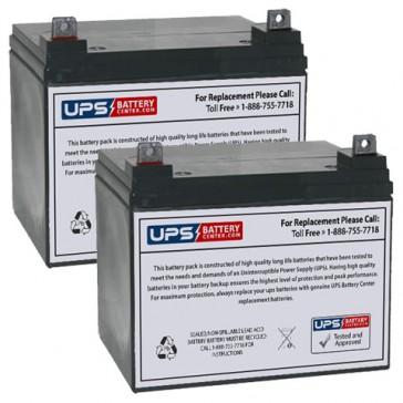 Topaz 1300VA 12V 32Ah Replacement Battery