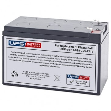 UPSonic UPS 600 12V 7.2Ah Replacement Battery