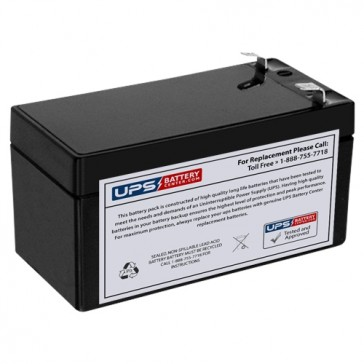 12V 1.2Ah Rechargeable with .187 Faston Terminal Battery
