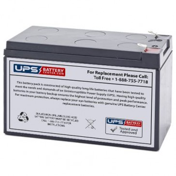 UPSonic CS 3000 12V 9Ah Replacement Battery