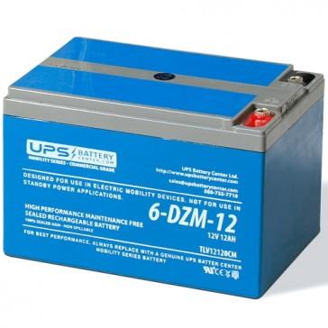 6-DZM-12 12V 12Ah eBike Battery