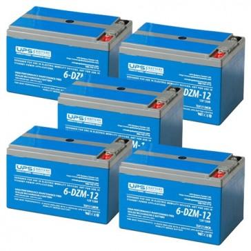60V 12Ah eBike escooter battery set - (5) 6-DZM-12