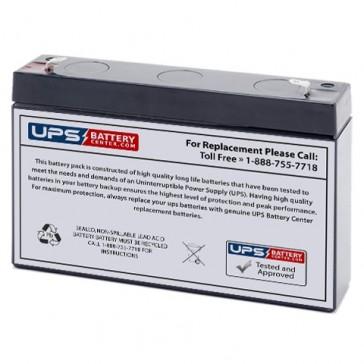 Pace Tech MiniPack 911, 911ST Monitor 6V 7Ah Medical Battery