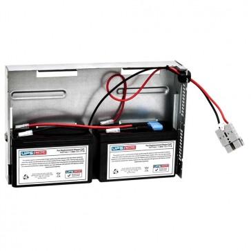 APC Smart-UPS 700VA Rack Mount 2U, Black SU700RM2UBX120 Compatible Battery Pack