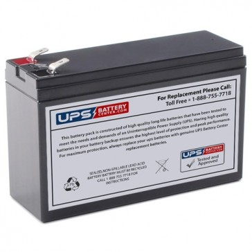 Cellpower 12V 6Ah CPH 6-12 Battery with +F2, -F1 Terminals