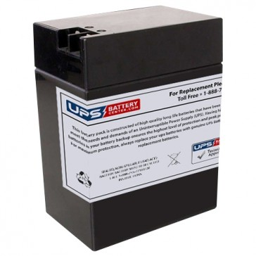 CooPower 6V 14Ah CP6-14 Battery with +F2 -F1 Terminals