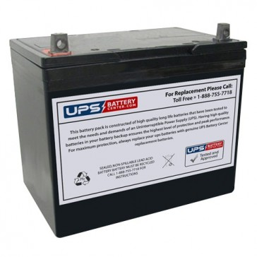 Dahua 12V 75Ah DHB12750 Battery with T3 Terminals