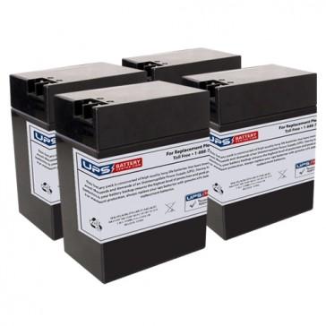 6M6 - Emergi-Lite/Kaufel 6V 13Ah Replacement Batteries