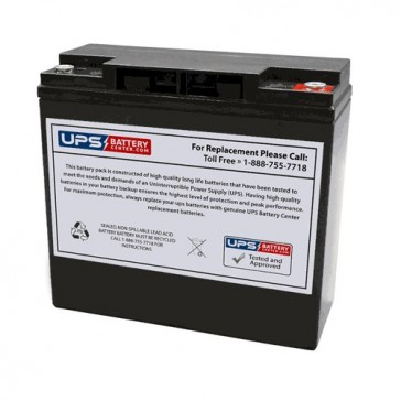 FirstPower FPG12180 12V 18Ah Battery with M5 Insert Terminals