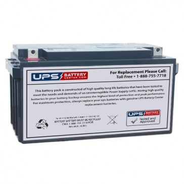 Gaston 12V 65Ah GT12-65 Battery with NB Terminals