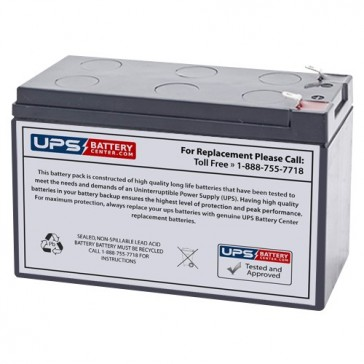 Gaston 12V 7.2Ah GT12-7.2 Battery with F1 Terminals